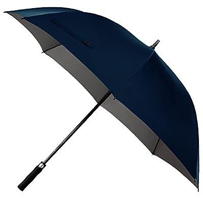 Rainlax Windproof Golf Umbrella 62 inch Oversize Canopy Automatic Open Large Outdoor Golf umbrella Rain&Wind Repellent Sun Protection Stick Umbrellas