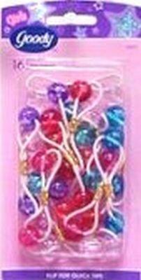 Goody Lip Gloss Twin Bead Ponytailers (6-Pack)