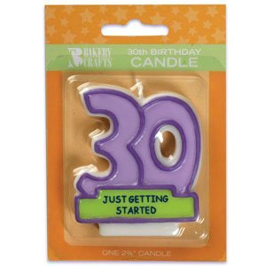 Oasis Supply 30th Birthday Candles, 2.75-Inch - 1