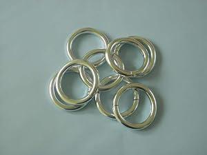 Cualitativos anillos de 14 piezas anillos de cortina de ducha ducha plata brillante anillos de cortina de la ducha   Comentarios y más información