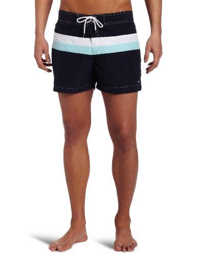 parke & ronen Men's Team Stripe Swim Short
