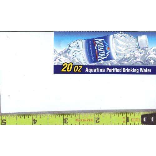 water bottle label size