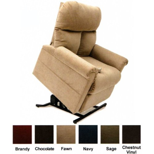 Mega Motion Lift Chair Easy Comfort Recliner LC-100 Infinite Position Rising Electric Power Chaise Lounger - Fawn Tan Color Fabric + Inside the Home Delivery, Setup and Box Removal (Mega Motion Infinite Position compare prices)