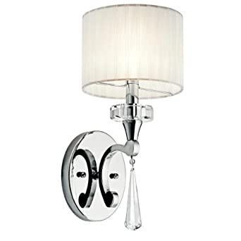 Amazon.com: Kichler Lighting 42634CH Parker Point Wall Sconce
