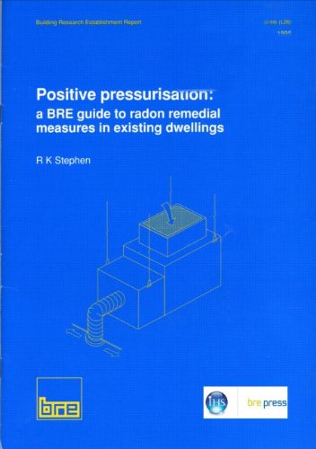 Positive Pressurisation A Bre Guide to Radon Remedial Measures in Existing Dwellings Br 281 Bre Report