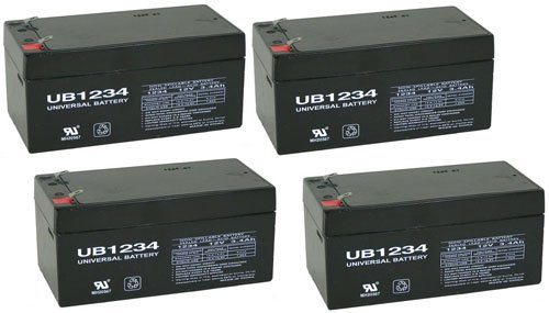 12V 3.4Ah Sla Battery Replacement For Rhino Sla3-12 Each - 4 Pack