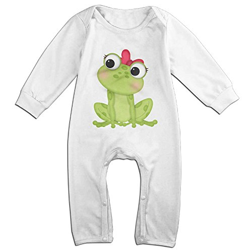 Posit-Babys-Frog-5-Boys-Girls-Kids-Creeper-Romper-Bodysuits-Jumpsuits-Size-US-White