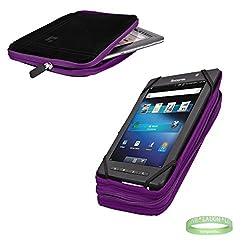 Generic Black Purple Tablet Case + Electric Geen Vangoddy Bracelet