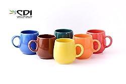 U-shaped Medium Multicolour Mugs (6Pcs) Microwave Safe