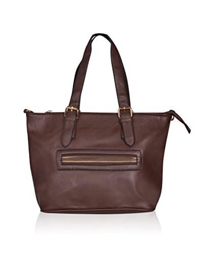 Carla Belotti Bolso asa al hombro Handbag Brown Sandrina