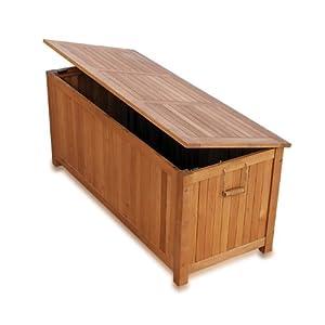 Cassapanca in legno arredo da giardino baule da esterno interno ...