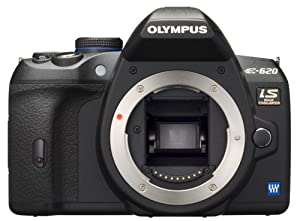 Olympus Evolt E620 12.3MP Live MOS Digital SLR Camera with Image Stabilization and 2.7 inch Swivel LCD (Body Only)