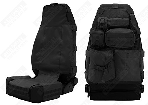 ZAPT Tactical Molle Front Seat Cover with 7 Pouches Universal Truck Seat Organizer Fits Most Car Black Tan Green Kryptek Typhon (Black) (Seat Cover For F150 Truck compare prices)