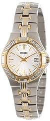 Seiko Womens SXDA42 Diamond Two-Tone Watch