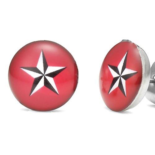 Unique Swift Star Studs Stainless Steel Men's Stud Earrings