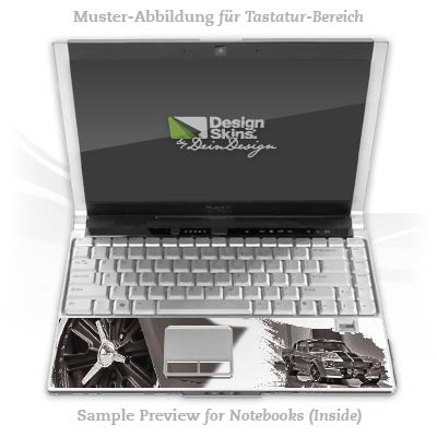 Design Skins für HP EliteBook 2530p Tastatur (Inlay) - Shelby 500 Design Folie