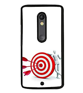 iFasho Hit the bulls eye Back Case Cover for Moto X Play