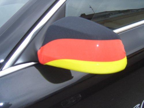 Fahne Germany Auto Aussenspiegel Flagge Deutschland WM 2010 AutoFahne Autoflagge Spiegel