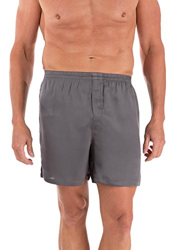 Silk Boxers For Men Anniversary Gift For Him Husband Boyfriend - Men'S 0120-Zn-L Color Grey