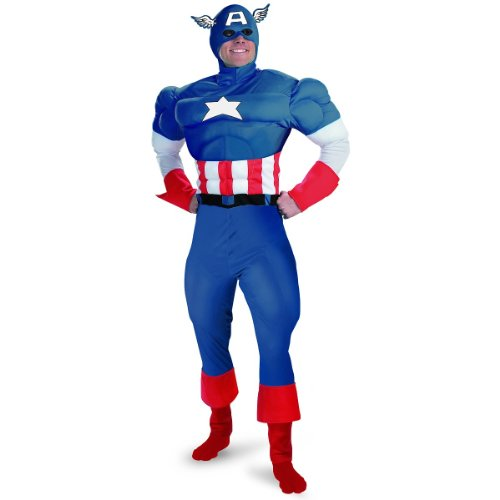 Captain America Deluxe Muscle Teen Costume - Teen - Kid's Costumes