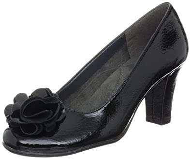 Aerosoles Women's Over Role Pump,Black Patent,10.5 M US