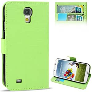 Cross Texture Leather Case with Credit Card Slots / Holder for Samsung Galaxy S4 / i9500 (Green)