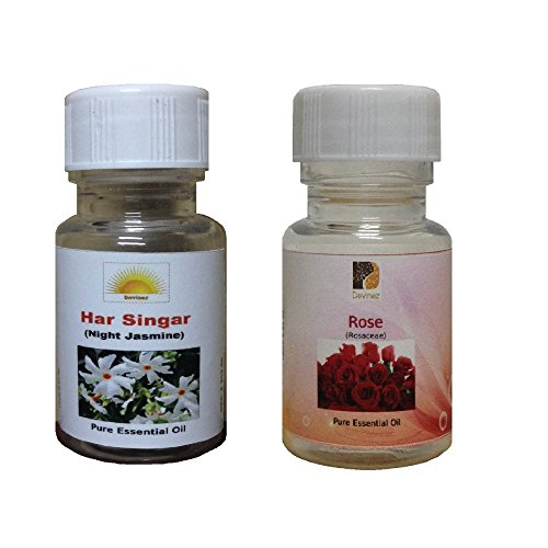 Devinez Aroma Har Singar And Rose Essential Oil For Diffusers, 60ml (Pack Of 2)