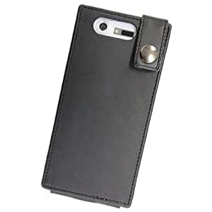 ロアス docomoスマートフォンMEDIAS N-04C専用PUレザーケース ブラック SMC-NL02BK