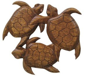 Amazon.com - Hawaiian Wood Wall Decoration Three Turtles - Wall