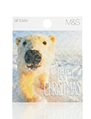 Cute Polar Bear Christmas Gift Card