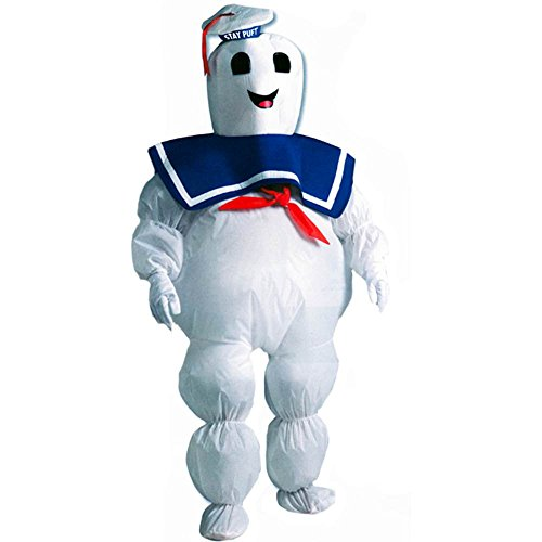 Inflatable Stay Puft Marshmallow Man Kids Costume - 8-10