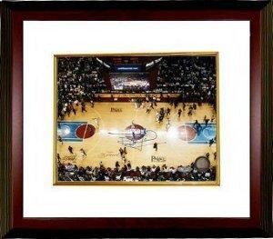 Bill Laimbeer signed Detroit Pistons Finals Celebration 8x10 Photo Custom Framed-...