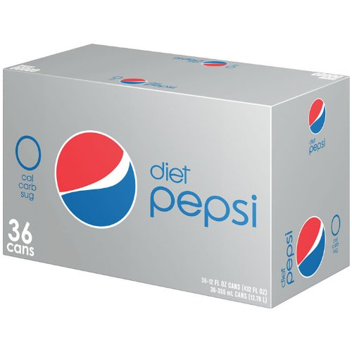 Diet Pepsi - 12 oz. cans - 36 pk. (012000100482)