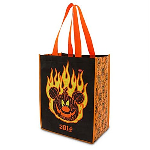 Disney 2014 Mickey Flaming Pumpkin Halloween Party Trick or Treat Bag Light Up