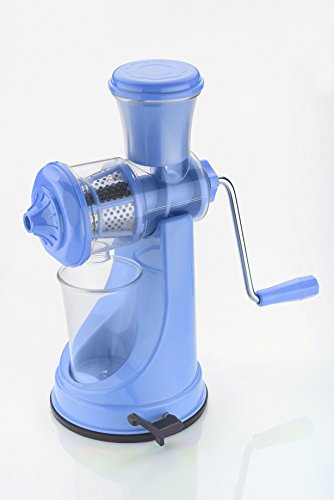 Pi² Combo Of Fruit And Vegetable Blue Juicer Deluxe S.S. Handle And 6 In 1 Slicer