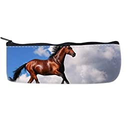 Horse Pattern Pencil Case Bag