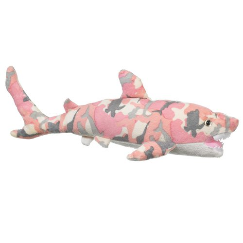 Wildlife Artists Camo Wild Zoo Shark In A Unique Animal Camo Zoo Plush Stuffed Animal In Pink front-475799
