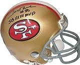 Jerry Rice signed San Francisco 49ers TB Mini Helmet SB XXIII MVP- Rice Hologram