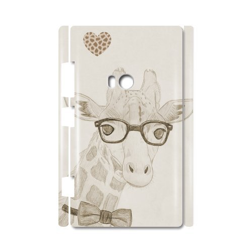 Giraffe And Eyewear Pencil Sketch Custom 100% Plastic 3D Case For Nokia Lumia 920