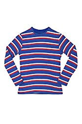 Poppers by Pantaloons Boy's Round Neck T-Shirt (205000005606020, Blue, 7-8 Years)