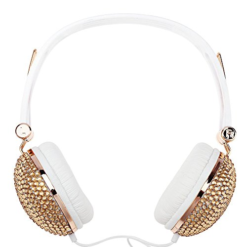 2016 New Arrival Popular Anti-noise Music Headphone with Artificial Crystal Rhineston