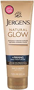 Jergens Natural Glow Firming Moisturizer, Fair to Medium Skin Tones 7.5 Ounces
