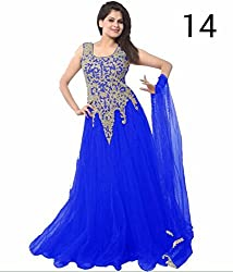 Shree Khodal Women's Blue Net Dress Material [SK_JCN1077_D]