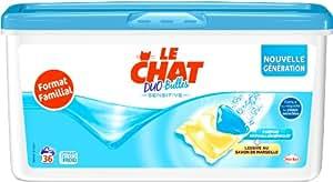 Le Chat Bulles Sensitive Duo Concentrées Boîte 36 Capsules / 36 Lavages