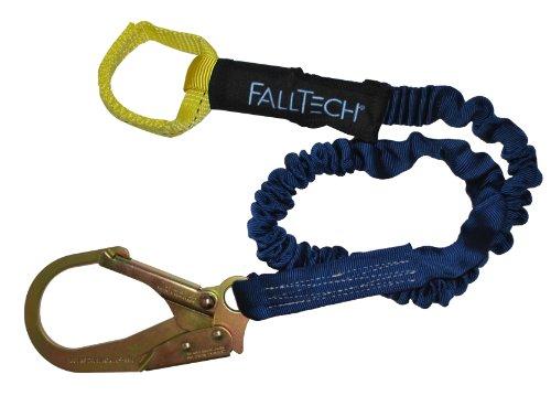 FallTech 82403L ElasTech 6-Foot Shock Absorbing Lanyard with Loop and Rebar Hook