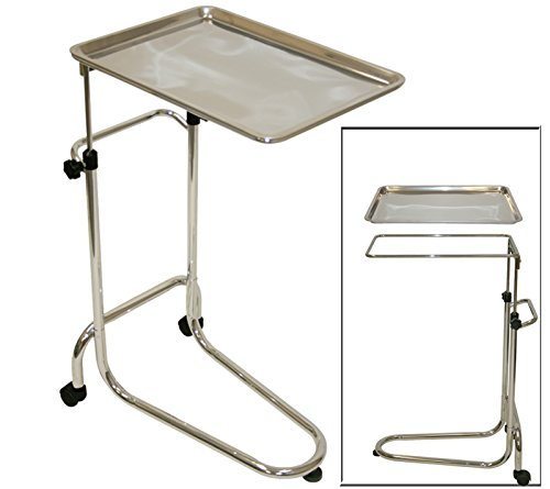 Lcl Beauty Extra Large Stainless Steel Double-Post Mayo Instrument Stand & Work Tray front-983827