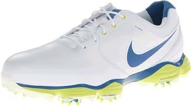 Nike Golf Men's Nike Lunar Control II Golf Shoe,White/Venom Green//Military Blue,7 M US