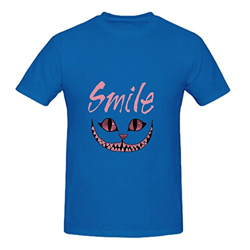 smile-cheshire-cat-men-o-neck-cool-t-shirts-blue