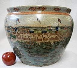 Thirteen Factories of Guangzhou Chinese Porcelain Fish Bowl 14\