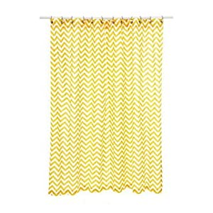 Chevron Shower Curtain Color Yellow